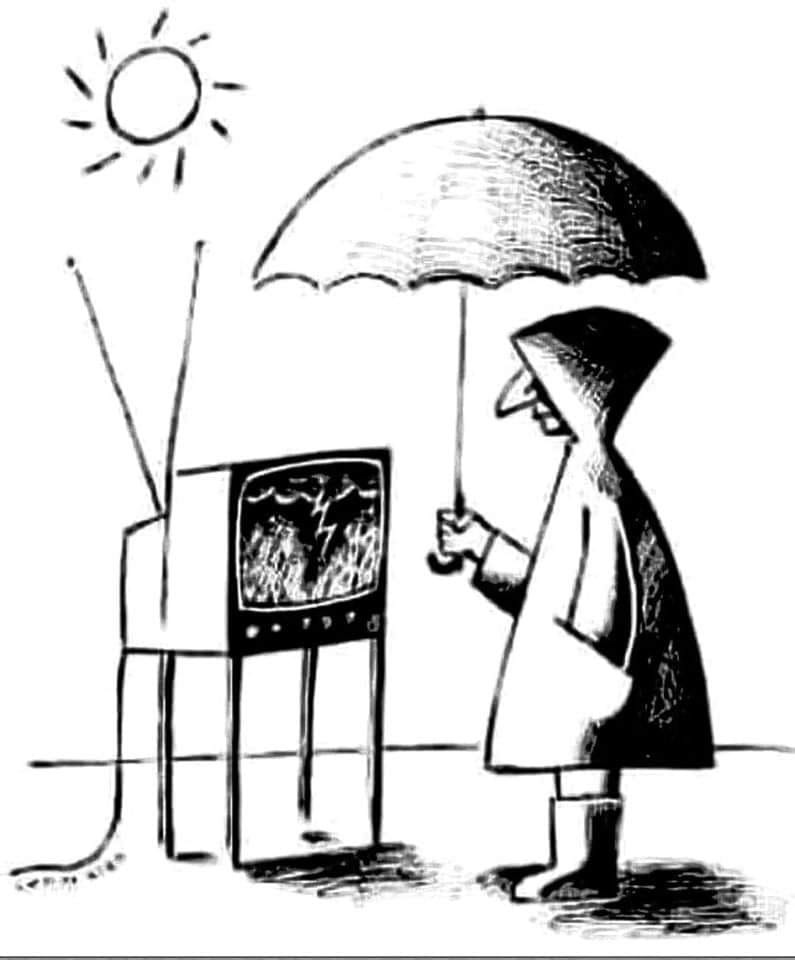 Is Your Sunny World in Jeopardy from a Rainy TV