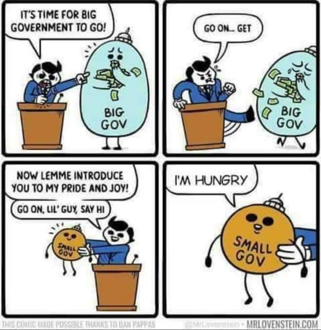 Small Government is Hungry Government