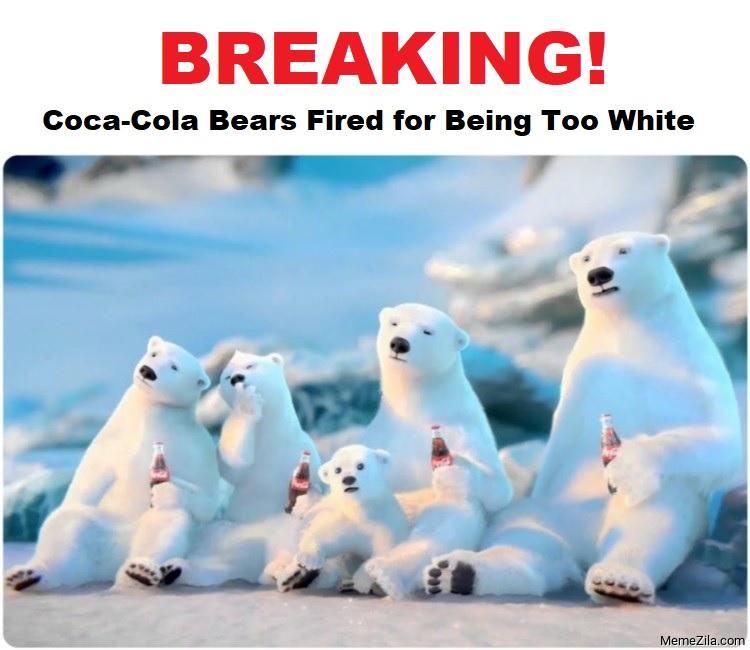 Coke Bears Fired for Being Too White